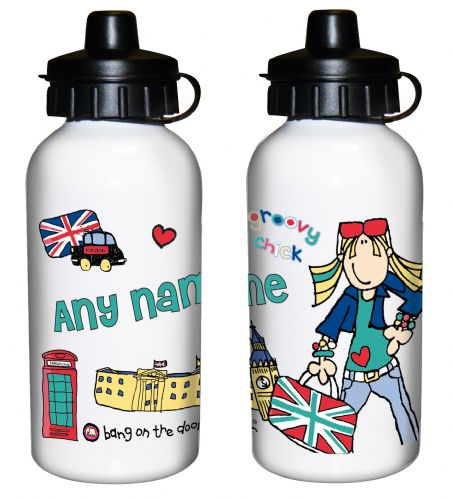 Personalised Bang on the Door London Chick Drinks Bottle